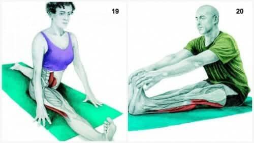 """stretchövningar: Front Split och Sittande """"toe touch"""""""