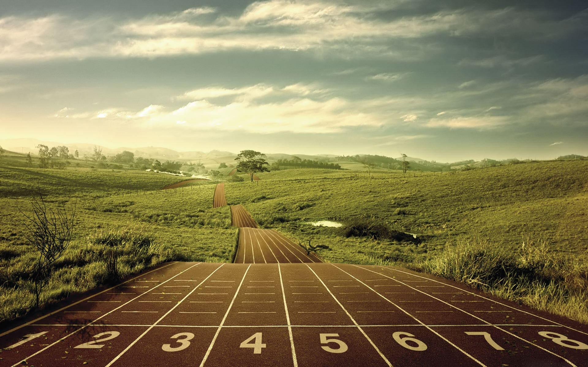 intervallträning bakgrund - löpning